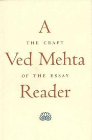 A VED MEHTA READER by Ved Mehta