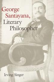 GEORGE SANTAYANA by Irving Singer