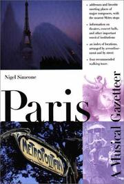 PARIS by Nigel Simeone