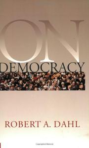 ON DEMOCRACY by Robert A. Dahl