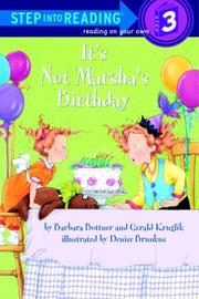 Book Cover for IT'S NOT MARSHA'S BIRTHDAY