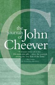THE JOURNALS OF JOHN CHEEVER by John Cheever