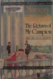 Cover art for RETURN OF MR. CAMPION