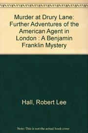 MURDER AT DRURY LANE by Robert Lee Hall