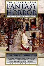 THE YEAR'S BEST FANTASY AND HORROR: Eighth Annual Collection by Ellen & Terri Windling--Eds. Datlow