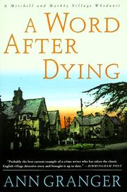 Cover art for A WORD AFTER DYING