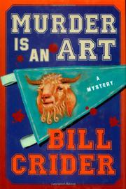 MURDER IS AN ART by Bill Crider