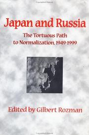 JAPAN AND RUSSIA by Gilbert Rozman