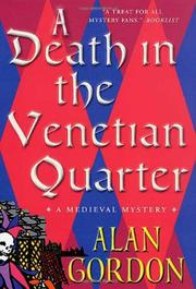 A DEATH IN THE VENETIAN QUARTER by Alan Gordon