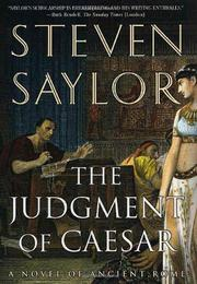 Cover art for THE JUDGMENT OF CAESAR