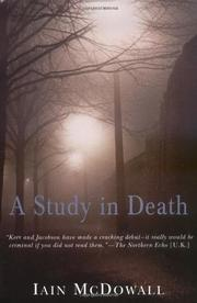 A STUDY IN DEATH by Iain McDowall