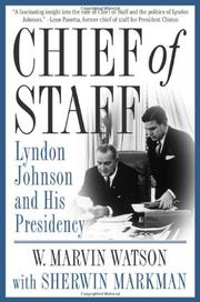 CHIEF OF STAFF by W. Marvin Watson