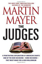 THE JUDGES by Martin Mayer