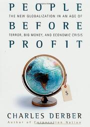 PEOPLE BEFORE PROFIT by Charles Derber