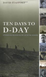 TEN DAYS TO D-DAY by David Stafford