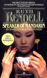 SPEAKER OF MANDARIN by Ruth Rendell