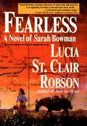 FEARLESS by Lucia St. Clair Robson