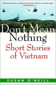 DON'T MEAN NOTHING by Susan O'Neill