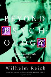 BEYOND PSYCHOLOGY by Wilhelm Reich