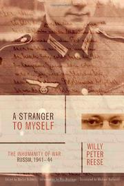 A STRANGER TO MYSELF by Willy Peter Reese