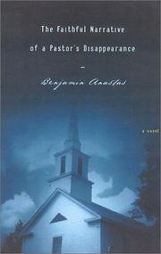 Cover art for THE FAITHFUL NARRATIVE OF A PASTOR'S DISAPPEARANCE