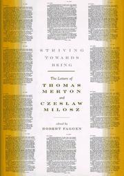 STRIVING TOWARDS BEING by Thomas Merton