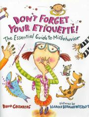 DON'T FORGET YOUR ETIQUETTE! by David Greenberg