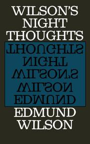 WILSON'S NIGHT THOUGHTS by Edmund Wilson