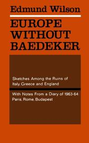 EUROPE WITHOUT BAEDEKER  by Edmund Wilson