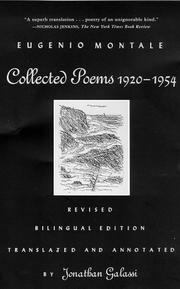 COLLECTED POEMS 1920-1954 by Eugenio Montale
