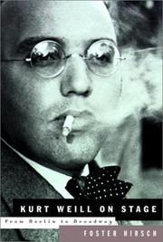 Book Cover for KURT WEILL ON STAGE