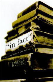 IN FACT by Thomas Mallon