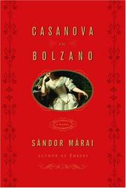 CASANOVA IN BOLZANO by Sándor Márai