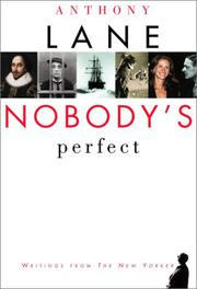 Cover art for NOBODY'S PERFECT