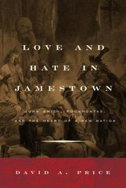 Cover art for LOVE AND HATE IN JAMESTOWN