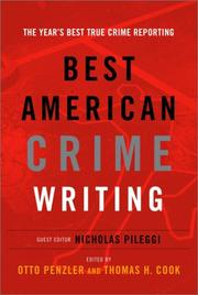 THE BEST AMERICAN CRIME WRITING by Otto Penzler