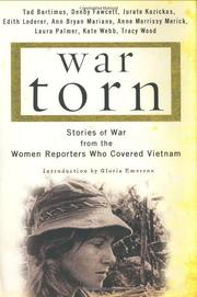 WAR TORN by Tad Bartimus