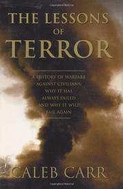 THE LESSONS OF TERROR by Caleb Carr