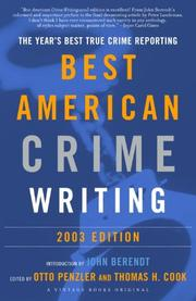 Book Cover for THE BEST AMERICAN CRIME WRITING 2003
