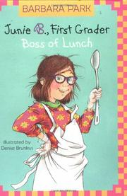 BOSS OF LUNCH by Barbara Park