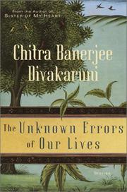 Cover art for THE UNKNOWN ERRORS OF OUR LIVES