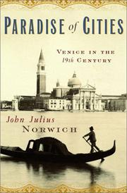PARADISE OF CITIES by John Julius Norwich