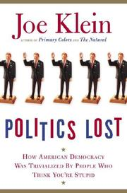 Cover art for POLITICS LOST