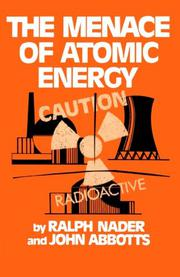 Book Cover for THE MENACE OF ATOMIC ENERGY