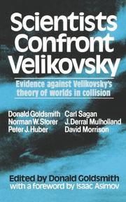 SCIENTISTS CONFRONT VELIKOVSKY by Donald--Ed. Goldsmith