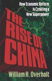 THE RISE OF CHINA by William Overholt