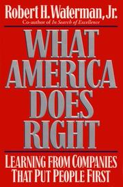 WHAT AMERICA DOES RIGHT by Jr. Waterman