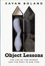 OBJECT LESSONS by Eavan  Boland
