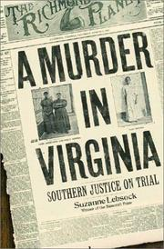 A MURDER IN VIRGINIA by Suzanne Lebsock