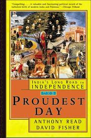 THE PROUDEST DAY by Anthony Read